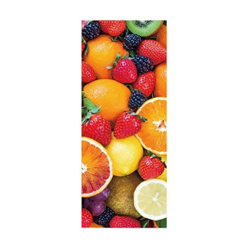 tzxdbh escalera decorativa Frutas fresas naranjas 100CMx18CMx6pieces(39.3'w x 7'h x 6pieces) pegatinas de escalera 3D creativas pegatinas autoadhesivas para escaleras, azulejos de piso de escalera
