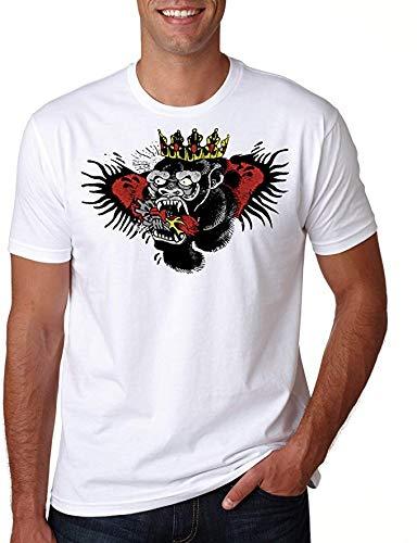 NR LYURTERD Tattoo Conor McGregor Shirt T Art UFC MMA beruchte Top Tshirt Kampioen Grappige Dethrone Ierland 54 (S)