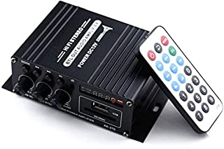 DeGaoge アンプ Bluetooth5.0 パワーアンプ増幅器 HI-FI 高低音 ステレオ オーディオアンプ ベース