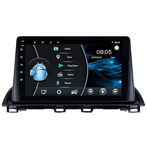 Android 10 Autoradio navegación del Coche Reproductor Multimedia estéreo GPS Radio IPS 2.5D Pantalla táctil para Mazda 3 Axela 2014 2015 2016,6 Core WiFi 2+32 (Ultra Thin)