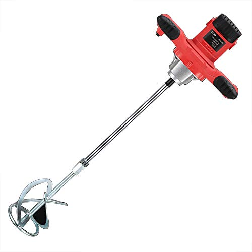 Electric Plaster Paddle Mixer,2100W Cement Mixer,Mortar Paint Stirrer Whisk,Handheld Portable Paddle Mixing Tool,6 Variable Speeds,for Mixing Feed, Plaster,Paint,Cement,0-800r/min