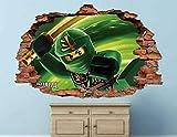 Ninjago Lloyd Garmadon Wandtattoo Dekor Smashed 3D Sticker Art Vinyl 55X60Cm