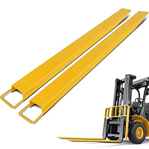 BestEquip Pallet Forks Extensions 96 Inch x 4.5 Inch Steel Pallet Forks Forklift Pallet Fork Extensions for Forklift Lift Truck (96