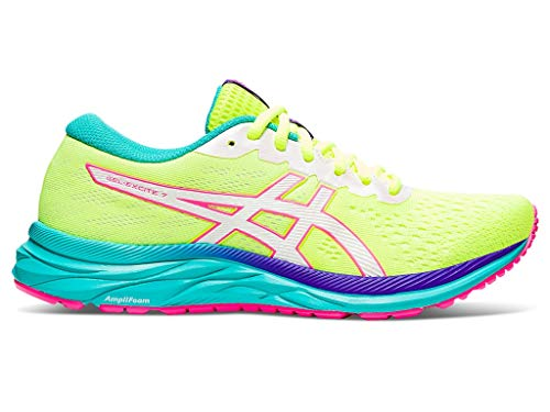 ASICS Women's Gel-Excite 7 Running Shoes, 8.5M, Safety Yellow/White