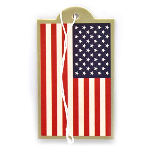 u a a auto air fresheners USA Flag Air Freshener, New Car Scent, 6-Pack