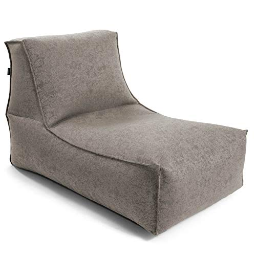 mokebo® Sitzsack 'Der Sundowner', kleine Indoor & Outdoor Liege oder Relaxliege, Made in Schwarzwald, Sitzsack, Webstoff in Beige 009