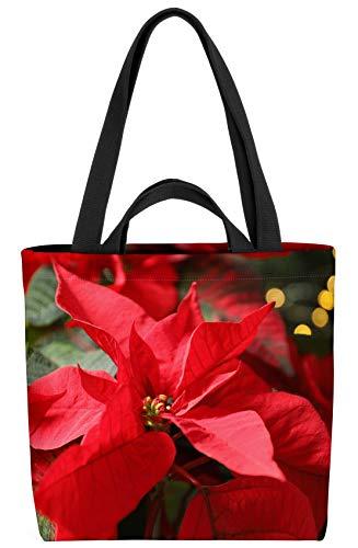 VOID Blumen Weihnachtsstern Pflanzen Tasche 33x33x14cm,15l Einkaufs-Beutel Shopper Einkaufs-Tasche Bag