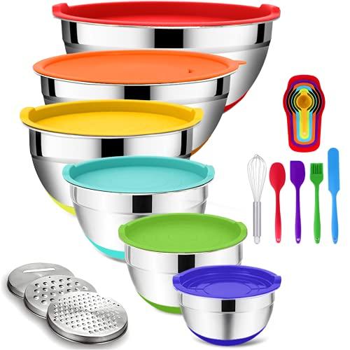 Mixing Bowls with Airtight Lids, 20PCS