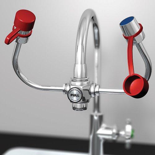 Guardian G1101 Plastic EyeSafe-X Faucet-Mounted Eyewash, Adjustable Aerated Outlet Heads