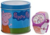 Reloj analógico con Caja de Peppa Pig