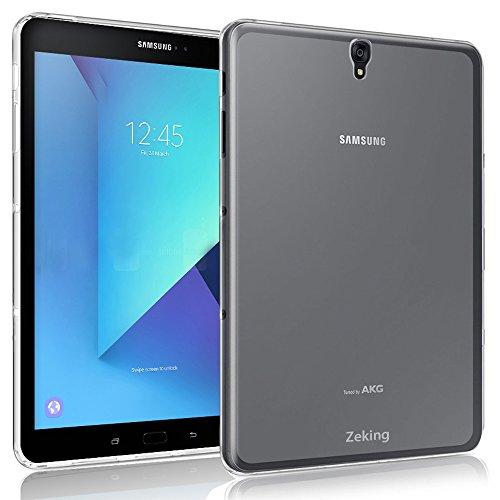 Samsung Galaxy Tab S3 9.7 Case, Zeking Ultra Slim Thin Anti-Scratch TPU Rubber Soft Skin Silicone Premium Protective Case Cover Samsung Galaxy Tab S3 9.7 T820 / T825 (Transparent)