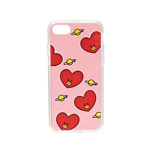 BT21 Official Merchandise by Line Friends - TATA Pattern TPU Case for iPhone 8 / iPhone 7, Red