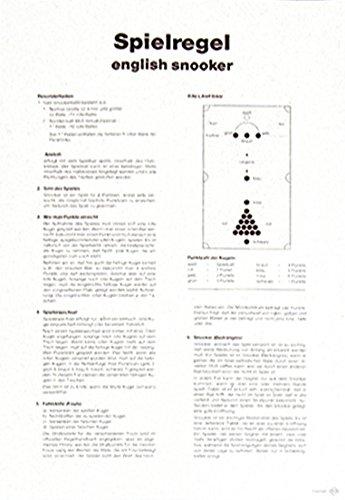 Spielregel - Poster, Snooker Billard