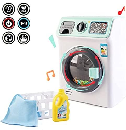 """deAO \""""Meine erste Waschmaschine Wäsche- Und Reinigungsspielset Für Kinder Mit Einer Vielzahl Von Waschzubehör Und Realistischen Funktionen"""