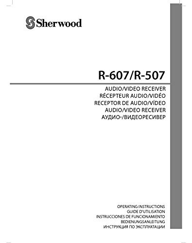 Sherwood R-507 R-607 Receiver Owners Instruction Manual Reprint [Plastic Comb]