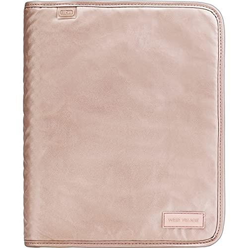 Caderno Argolado Universitário com Zíper West Village Metalizado Rosé 48 Folhas - Tilibra