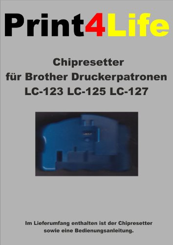 CHIP RESETTER für Brother LC-123 LC-125 LC-127 Patronen dieser Drucker: MFC-J 4710 DW * DCP-J 4110 W * MFC-J 4510 DW * DCP-J 4110 DW * MFC-J 4410 DW * MFC-J 4610 DW