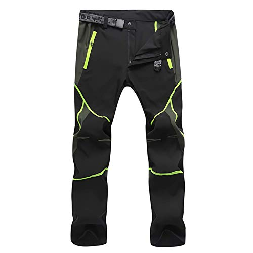 Uomo Donna Impermeabile Pantaloni Asciugatura Rapida Outdoor Sport Training Pants Traspiranti Slim con Tasca