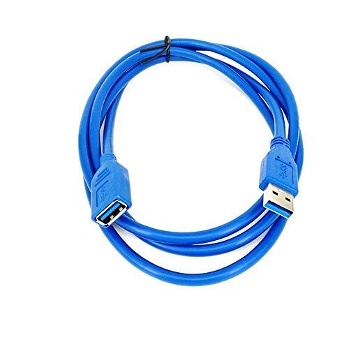 Yowablo Verlängerungskabel 0,5/1/2/3 / 5M USB 3.0 A-Stecker auf Buchse Daten-Synchronisationskabel Kabel 5 Gbit/s (3m Blau)