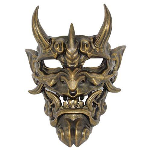Japonés Prajna Halloween Máscara Ropa Colección Pared Hanging Mask Japonés Anime Pintado A Mano Kitsune Máscaras De Halloween