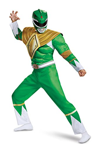 Power Rangers Men's Green Ranger Costume 2X-Large
