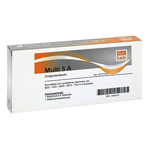 DROGENTEST Multi 5A AMP COC MET MOP THC Teststr. 1 St