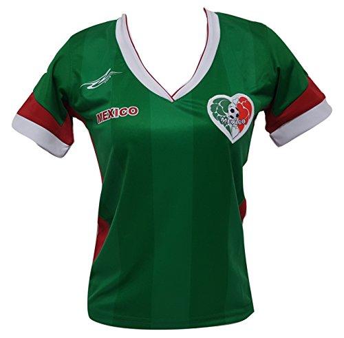 Mexico Soccer Women's Jersey Copa America 2016 (X-Large) Green