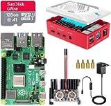 LABISTS Raspberry Pi 4 8GB Kit Incluido Tarjeta SD 128GB Precargada con Raspberry Pi OS, Ventilador, Disipadores de Calor Grande, 2 Micro HDMI, Caja y Lector de Tarjetas
