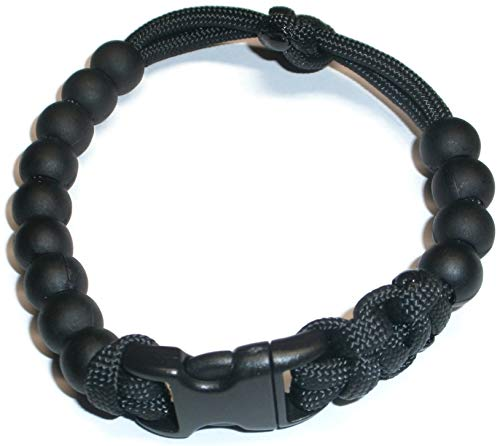 RedVex Ranger Pace Counter Bead Bracelet Black - Choose Your Size - Customization Available (8 inch)