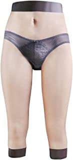 FEEDGO Crossdressing Silicone Pants Realistic Vagina Fake Buttock Ass Cropped Trousers Cosplay for Transgender 1st Generation