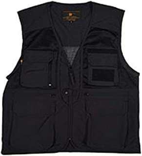 ポケットのベストマルチポケットは屋外のカジュアルな男性の薄いベストを収容することができます写真旅行ライトベスト (色 : ブラック, サイズ さいず : L l)