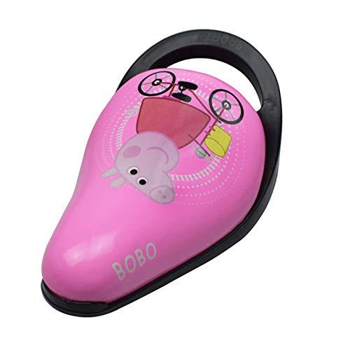 VARIJOY Sillín de bicicleta suave de moda, cómodo acolchado y acolchado, espuma viscoelástica ampliada, asiento de bicicleta especial para niños con asa (rosa, patrón de Peppa de cerdo)