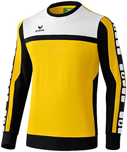 Erima Herren Classic 5-C Sweatshirt, gelb/schwarz/weiß, M