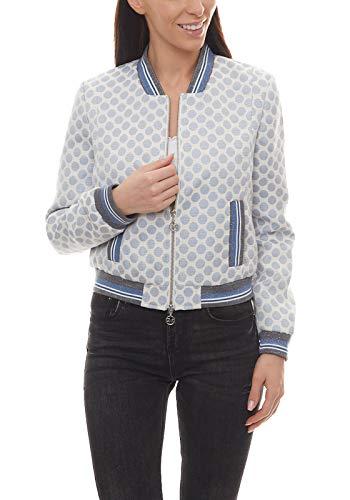 Guido Maria Kretschmer Blouson-Jacke Gepunkteter Blazer Damen College-Jacke Mode-Jacke Trend-Jacke Weiß, Größe:46