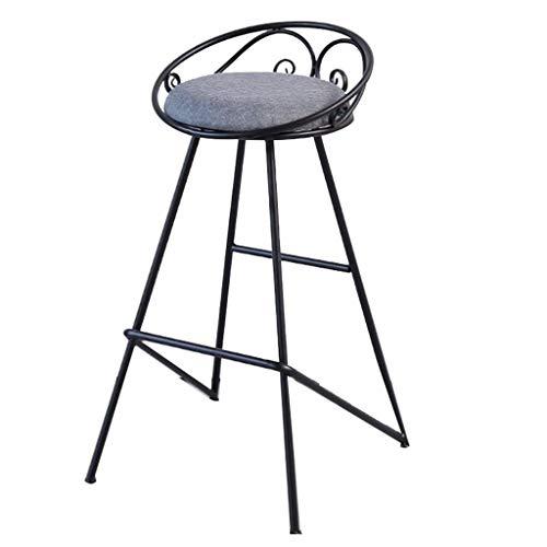 Taburetes De Bar Madera Taburetes de bars, taburete giratorio sin espalda nórdica de hierro forjado taburete alto taburete ocio té café cafetería mesa contra la pared casera bar mesa y sillas (color: