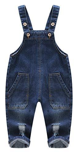 Kidscool ruimte schattig 2 grote been zakken baby peuter gescheurd casual jeans overall