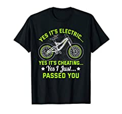 This funny E-Bike graphic design is great for ebike owners. Do you like riding e-bikes and electric bicycles with battery? Do you own an e-bike with accessories? Then this is for you. Womens - Mens - Kids - Boys - Girls. E-Bike shirt makes a perfect,...
