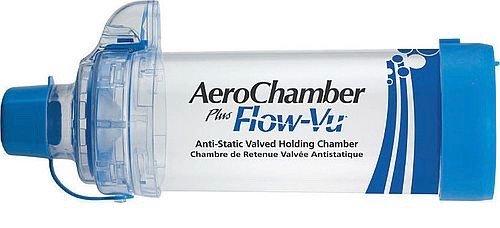 AeroChamber - Plus Flow-Vu Abstandshalter, mit Mundstück