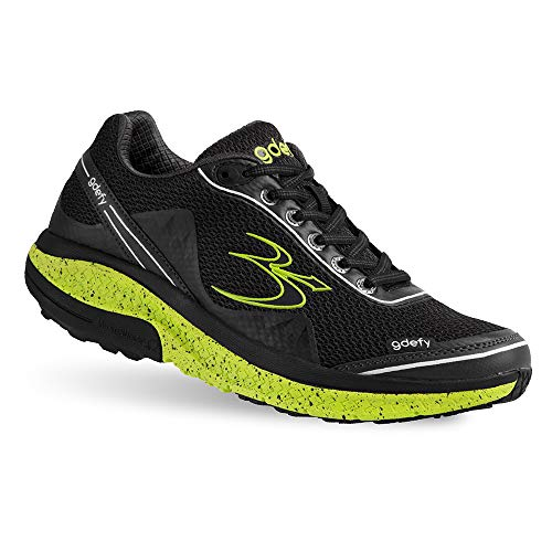 Gravity Defyer Proven Pain Relief Women's G-Defy Mighty Walk Black Lime Athletic Shoes 8.5 M US - Women's Walking Shoes for Heel Pain, Foot Pain and Plantar Fasciitis