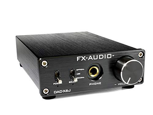 FX-AUDIO- DAC-X6J[ブラック]高性能ヘッドフォンアンプ搭載ハイレゾ対応DAC 最大24bit 192kHz