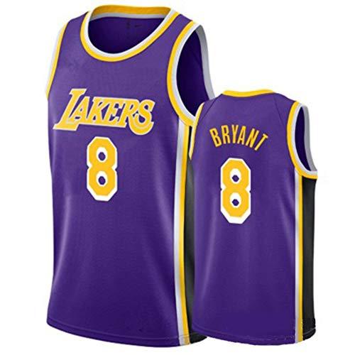 Gsaknc Lakers 24# Kobe Bryant Jerseys Camiseta De Baloncesto Bordada Transpirable, Uniforme del Equipo Deportivo Conmemorativo De Seguidores
