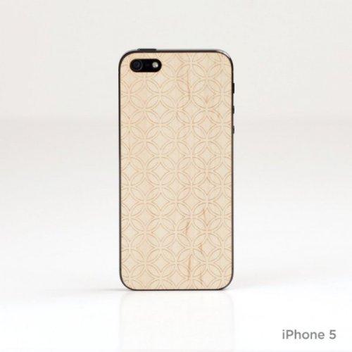 Lazerwood 25300-Cover in Legno per Apple iPhone 5/5S, con Pellicola Proteggi Schermo, in Legno d'Acero