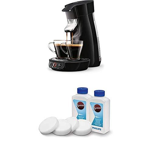 Philips Senseo Viva Cafe HD6563/60 Kaffeepadmaschine (Crema plus, Kaffee-Stärkeeinstellung) schwarz, mit Flüssigentkalker