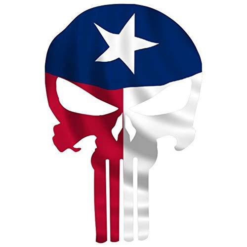 ZhuHZ Naklejki samochodowe 11,8 cm * 17,8 cm czaszka głowa flaga narodowa status osobowość retro odblaskowe naklejki samochodowe