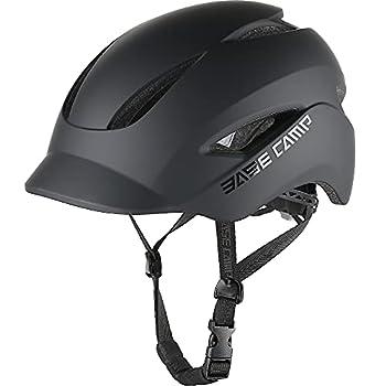 BASE CAMP Bike Helmet Bicycle Helmet with Light for Adult Men Women Commuter Urban Scooter Adjustable M Size