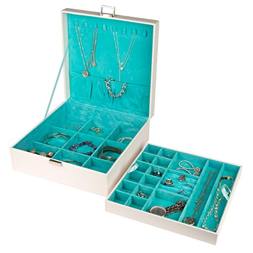 Sieraden Doos - 24 Vakken - Luxe Bijouterie Kistje - Juwelen Box met Houder - Juwelendoos Voor Kettingen, Ringen, Oorbellen, Horloges - Voor Dames/Meisjes