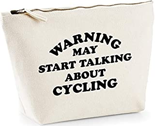Hippowarehouse Warning May Start Talking About Cycling Bolsa de Lavado cosmética Maquillaje Impreso 18x19x9cm