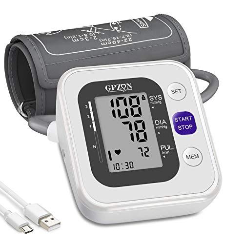 Tensiomètre Bras Électronique Professional,Tensiomètre Brassard Intelligent & Précise, Détection Automatique d'Hypertension,Arythmie Cardiaque,Pouls,Brassard...