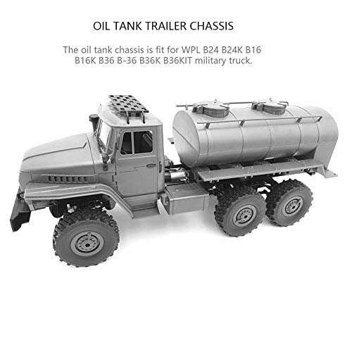 WPL B24 B16 B36 Military, Simulation Oil Tank Trailer for RC Car Parts DIY Accessoy