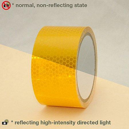 Oralite (Reflexite) 5900 HIP Nastro riflettente di grado prismatico: 2 in. x 15 ft. (Giallo)